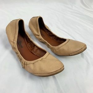 Lucky Brand Shoes - Lucky Brand Nude Tan Ballet Leather Flats 8